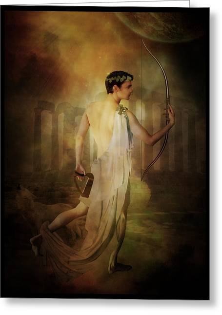 Pantheon Greeting Cards - Apollo Greeting Card by Karen K