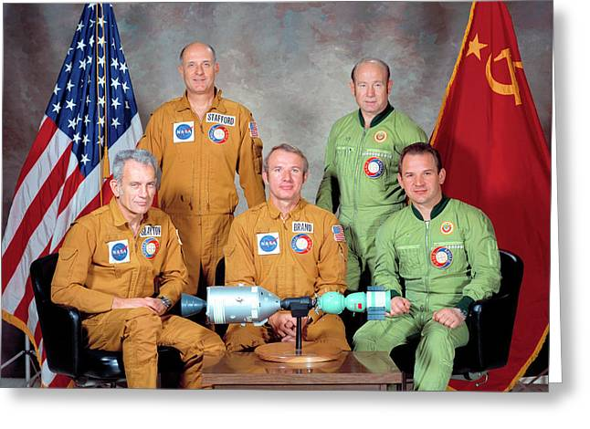 Apollo Soyuz Test Project Crew Greeting Card by Nasa