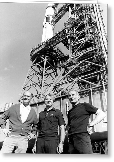 Apollo Soyuz Test Project Us Crew Greeting Card by Nasa