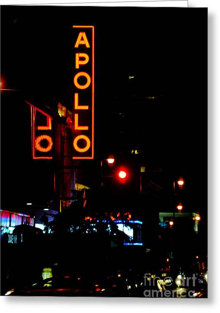 Gotham City Greeting Cards - Apollo Theatre Neon Sign Greeting Card by ArtyZen Studios - ArtyZen Home