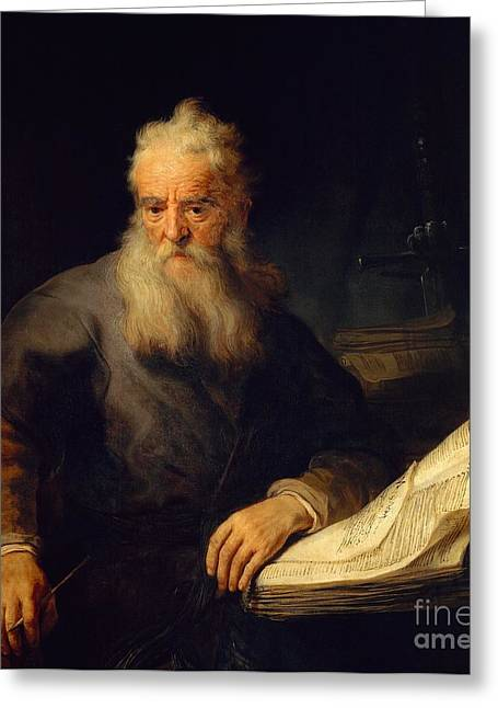 Self-portrait Greeting Cards - Apostle Paul Greeting Card by Rembrandt