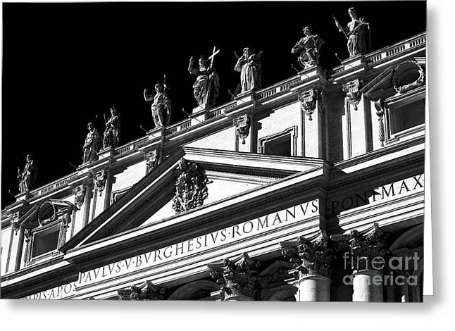Peter Art Prints Posters Gallery Greeting Cards - Apostles Greeting Card by John Rizzuto