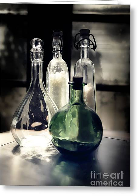 Medication Greeting Cards - Apothecary bottle Greeting Card by Danuta Bennett