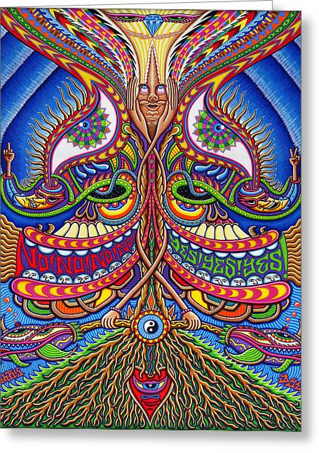 Spirtuality Greeting Cards - Apotheosis Greeting Card by Chris Dyer