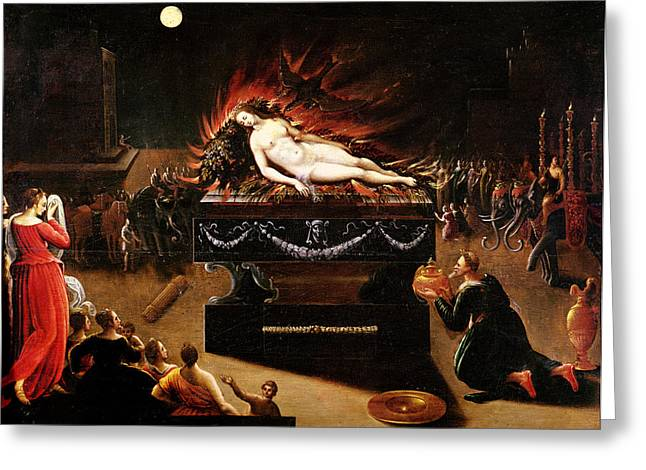 Doomed Greeting Cards - Apotheosis Of Semele Oil On Canvas Greeting Card by Antoine Caron