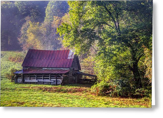 Tennessee Farm Greeting Cards - Appalachian Farmland Greeting Card by Debra and Dave Vanderlaan