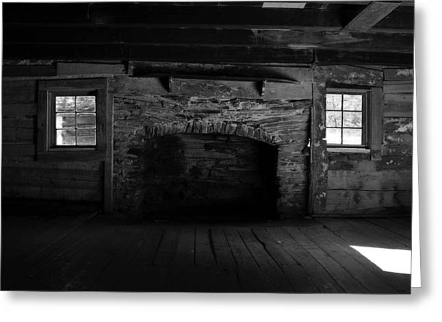 Old Cabins Greeting Cards - Appalachian fireplace Greeting Card by David Lee Thompson