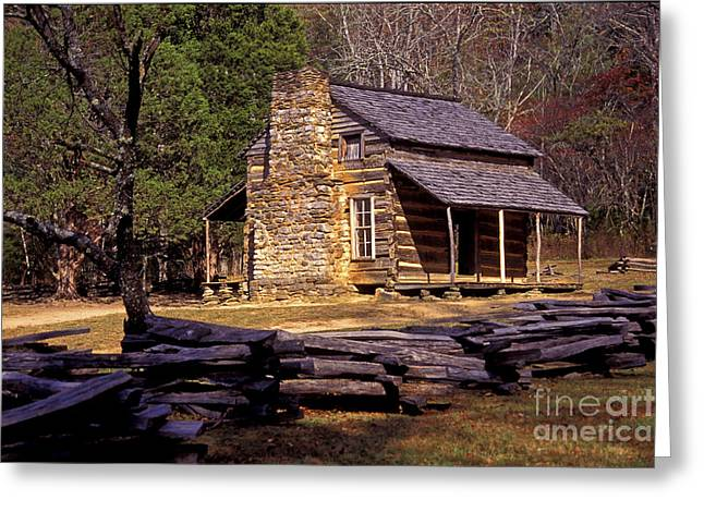 Appalachian Homestead Greeting Card by Paul W Faust -  Impressions of Light