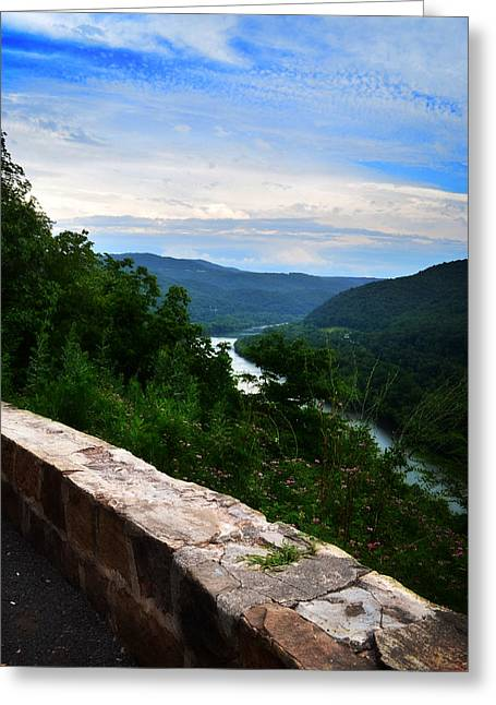 Outlook Greeting Cards - Appalachian Mountains and River Greeting Card by Lj Lambert