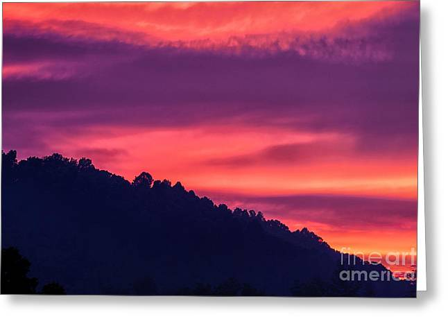 Passing Storm Greeting Cards - Appalachian Sunset after Storm Greeting Card by Thomas R Fletcher