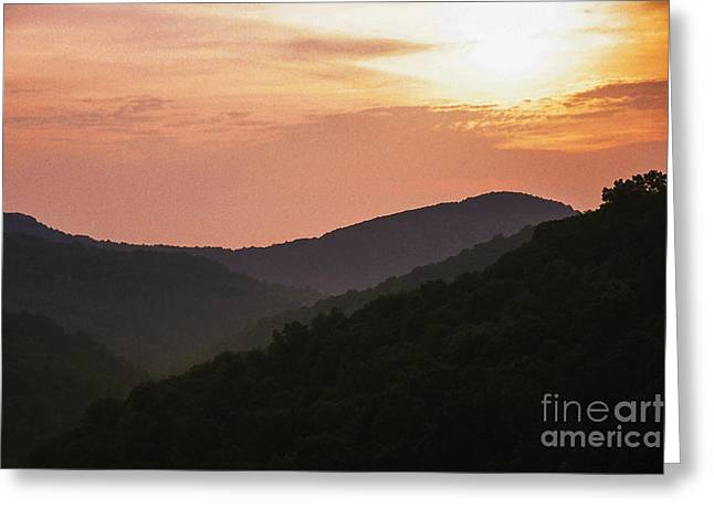 Nature Scene Digital Art Greeting Cards - Appalachian Sunset Greeting Card by Thomas R Fletcher
