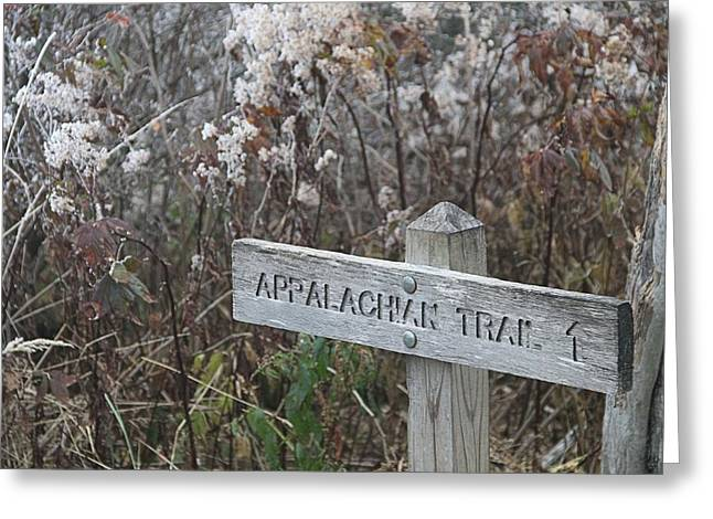 High Park Fire Greeting Cards - Appalachian Trail Greeting Card by Dan Sproul