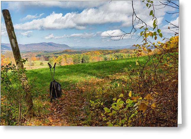Litchfield Hills Greeting Cards - Appalachian Trail Hiker Greeting Card by Bill  Wakeley