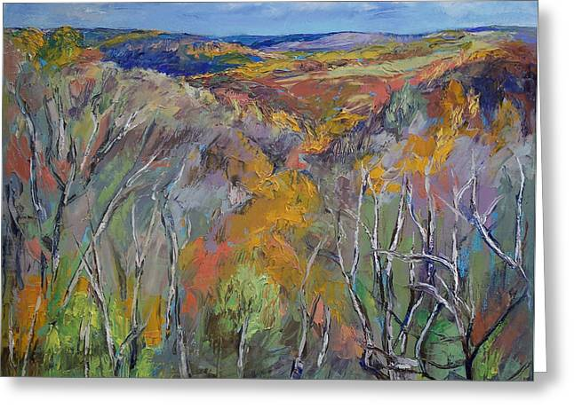 Appalachian Trail Greeting Card by Michael Creese