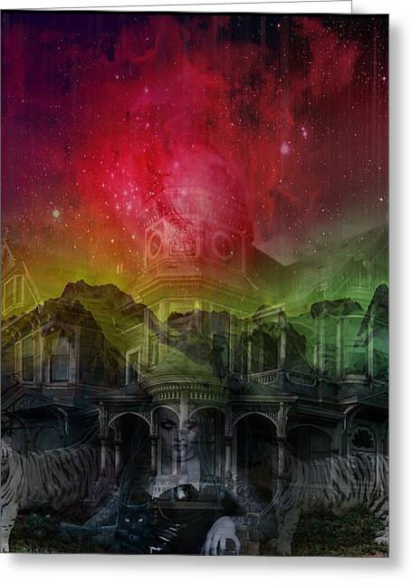 Ghastly Greeting Cards - Apparition and Sighting Greeting Card by Solomon Barroa