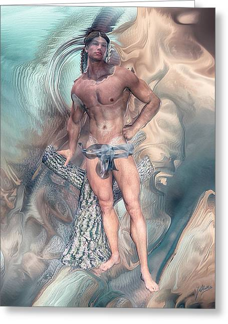 Tasteful Digital Greeting Cards - Appearance of Adonis Greeting Card by Joaquin Abella