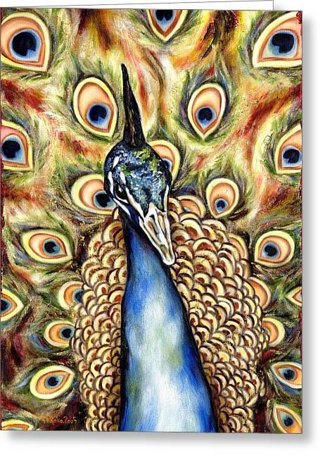 Best Selling Bird Art Greeting Cards - Applause Greeting Card by Hiroko Sakai
