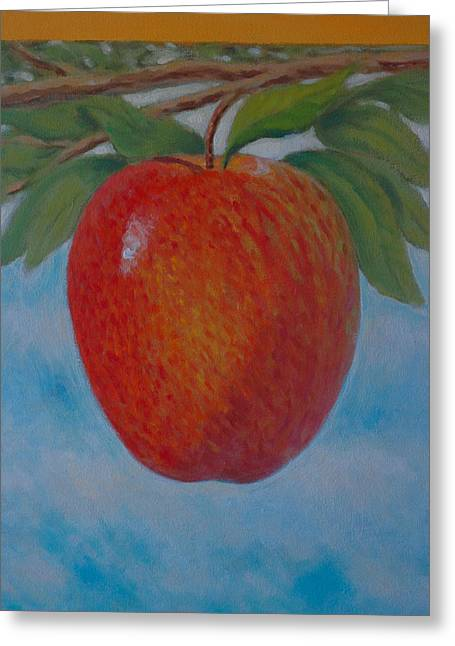 Fruit Tree Art Giclee Greeting Cards - Apple 1 in a series of 3 Greeting Card by Don Young