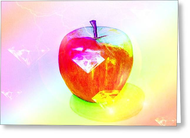 Apple Records Greeting Cards - Apple 4 Greeting Card by Kenneth A Mc Williams