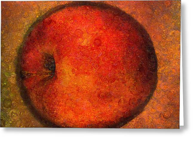 Apple Art Greeting Cards - Apple A Day-Abstract Realism Greeting Card by Georgiana Romanovna