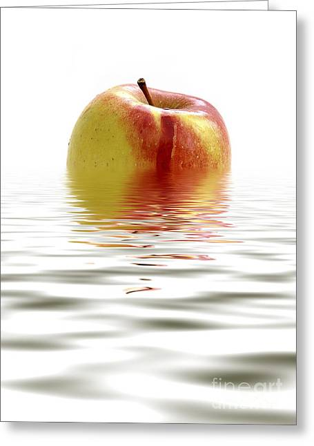 Lounge Digital Greeting Cards - Apple Afloat Greeting Card by Natalie Kinnear