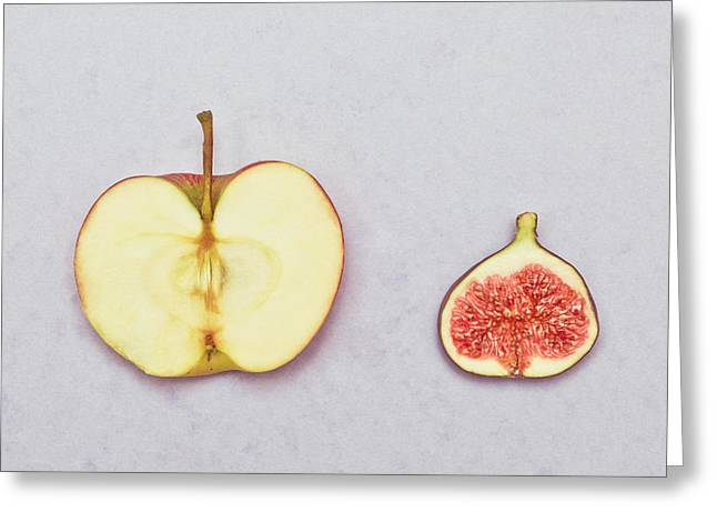 Granny Greeting Cards - Apple and fig Greeting Card by Tom Gowanlock