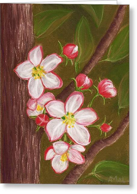 Hope Pastels Greeting Cards - Apple Blossom Greeting Card by Anastasiya Malakhova