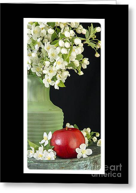 Apple Photographs Greeting Cards - Apple Blossoms Card Greeting Card by Edward Fielding