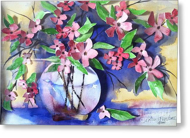 Apple Blossoms Greeting Card by Sherry Harradence