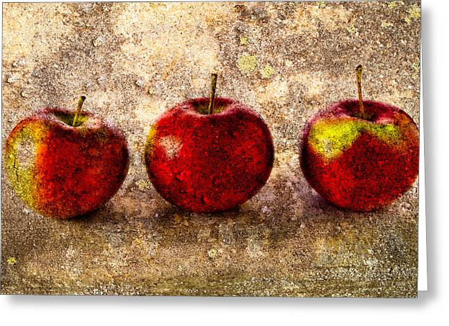 Art Decor Greeting Cards - Apple Greeting Card by Bob Orsillo