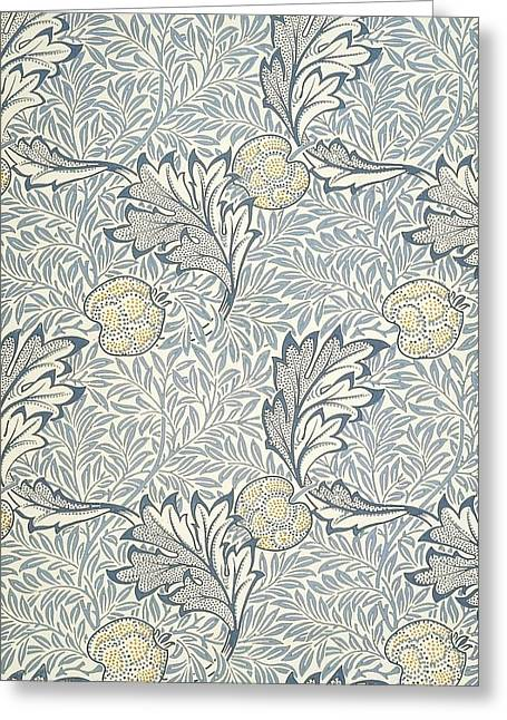 Print Tapestries - Textiles Greeting Cards - Apple Design Greeting Card by William Morris