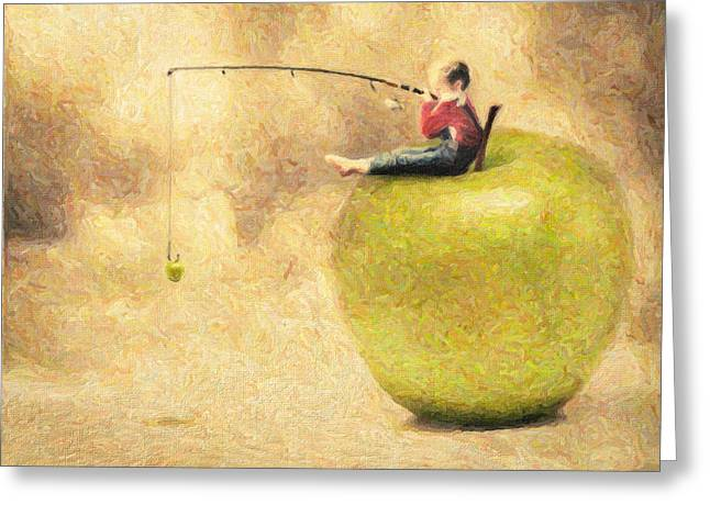 Apple Dream Greeting Card by Taylan Soyturk