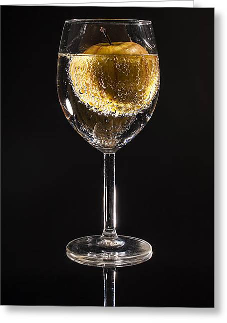 Goblet Greeting Cards - Apple Drink Greeting Card by Mountain Dreams