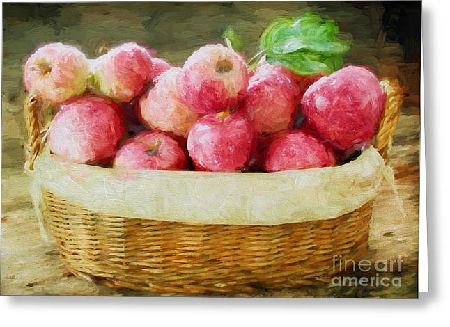 Harvest Time Photographs Greeting Cards - Apple Harvest Greeting Card by Darren Fisher