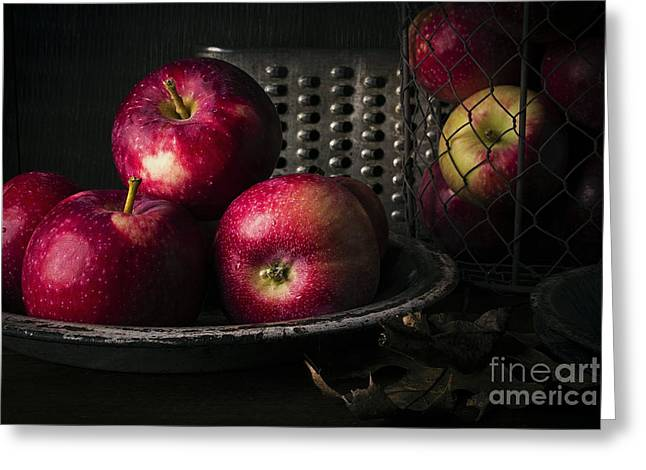 Old Masters Greeting Cards - Apple Harvest Greeting Card by Edward Fielding
