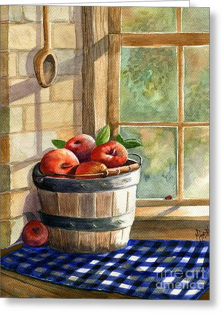 Reflection Harvest Greeting Cards - Apple Harvest Greeting Card by Marilyn Smith