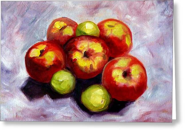 Yield Greeting Cards - Apple Harvest Greeting Card by Nancy Merkle