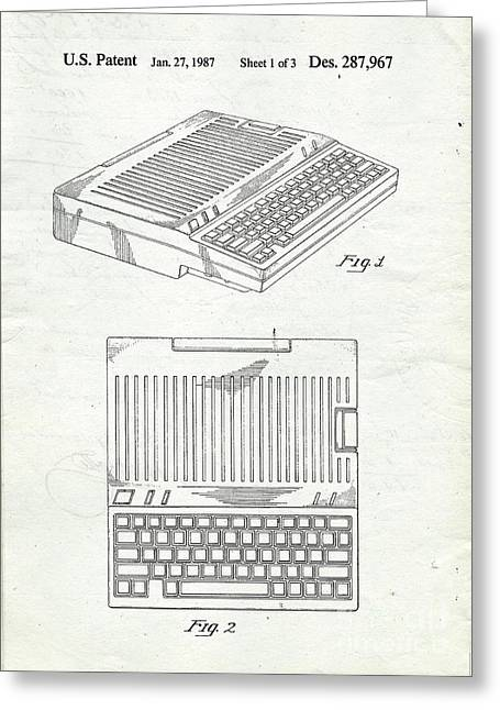 Computing Greeting Cards - Apple IIe Computer Original Patent Greeting Card by Edward Fielding