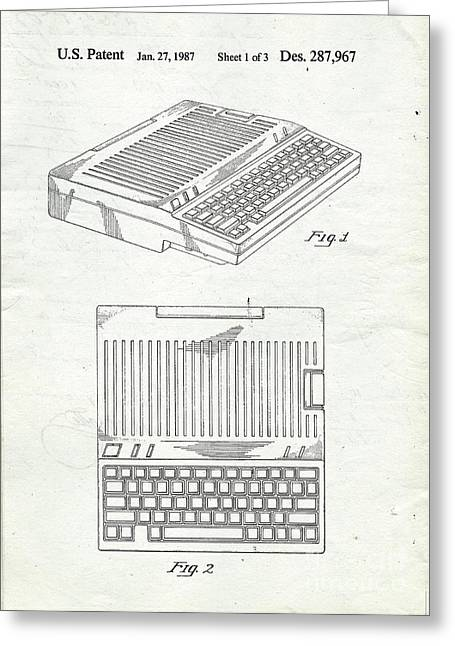 Apple IIe Computer Original Patent Greeting Card by Edward Fielding