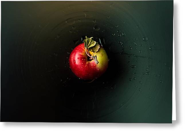 Drops Greeting Cards - Apple Greeting Card by Ivan Vukelic
