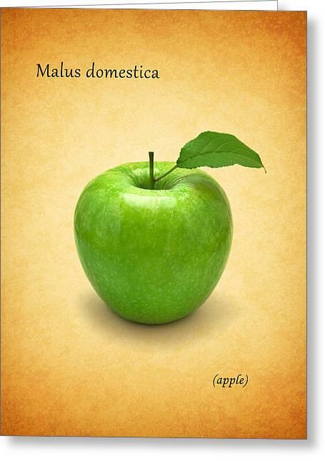 Citrus Leaf Greeting Cards - Apple Greeting Card by Mark Rogan