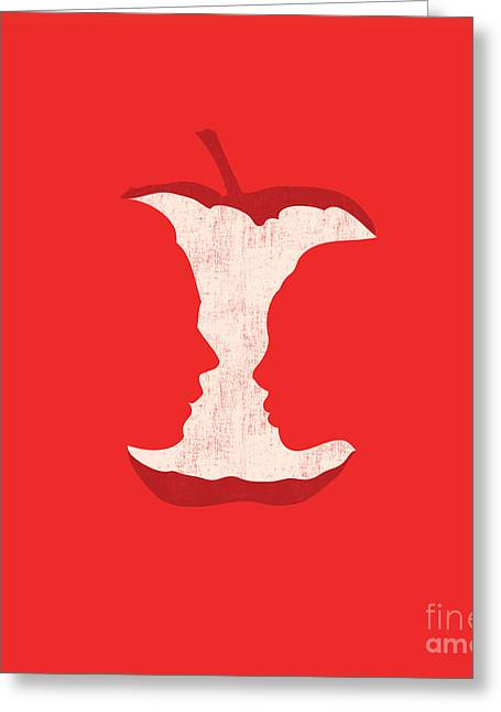 Cute Digital Art Greeting Cards - Apple of my eyes Greeting Card by Budi Kwan