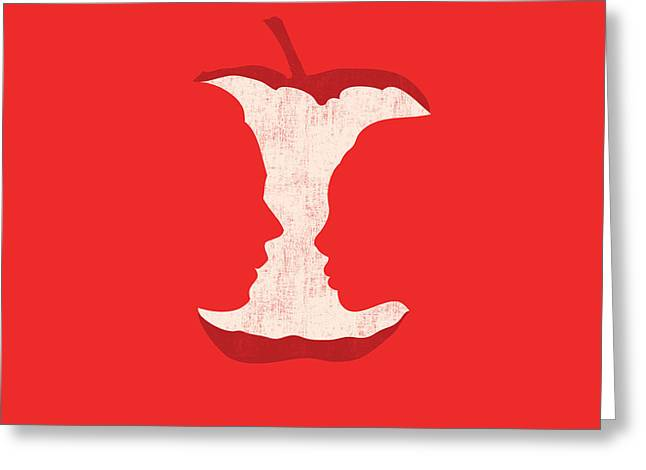Apple of my eyes Greeting Card by Budi Satria Kwan