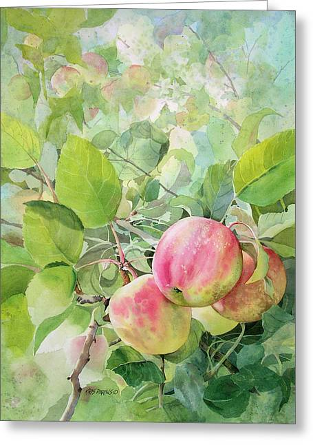 Farm Stand Greeting Cards - Apple Pie Greeting Card by Kris Parins