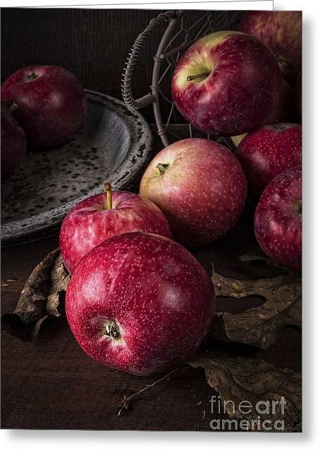 Healthy-lifestyle Greeting Cards - Apple Still Life Greeting Card by Edward Fielding