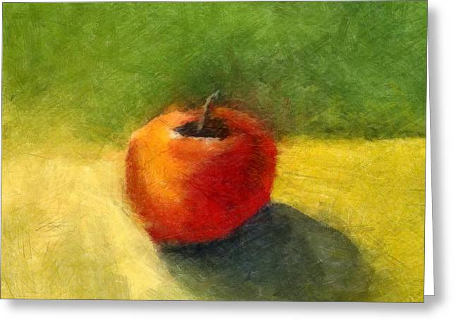 Tabletop Digital Art Greeting Cards - Apple Still Life No. 98 Greeting Card by Michelle Calkins