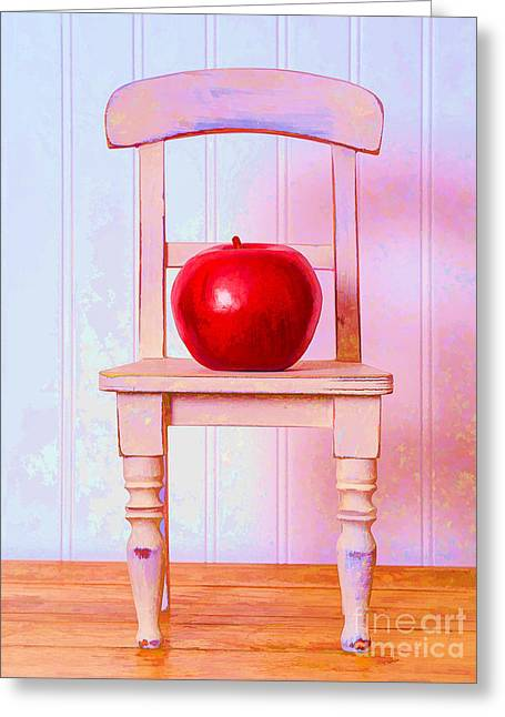 Chairs Greeting Cards - Apple Still Life with Doll Chair Greeting Card by Edward Fielding