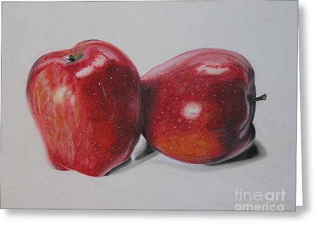 Apple Pastels Greeting Cards - Apple Study Greeting Card by Wil Golden