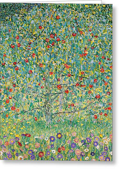 Snake Greeting Cards - Apple Tree I Greeting Card by Gustav Klimt