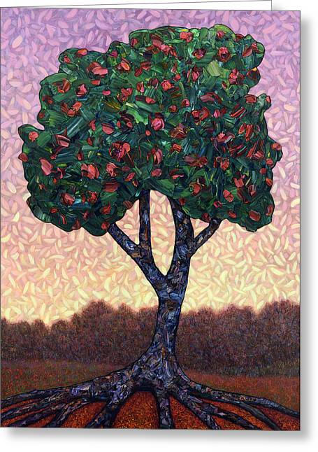 Famous Greeting Cards - Apple Tree Greeting Card by James W Johnson
